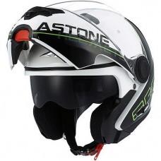 Шлем Astone RT800 LINETEK BLANC/VERT (зеленый/белый)